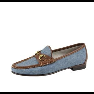 Gucci denim horsebit loafer
